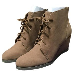 Madden girl ankle wedge bootie.